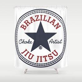 BJJ Choke Artist Shower Curtain