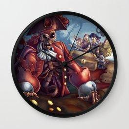 Denny and Company Pirate Captain Wall Clock