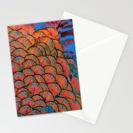 Vivid jazzy coloured feathers  Stationery Cards