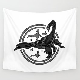 Scorpion GREY 2 Wall Tapestry