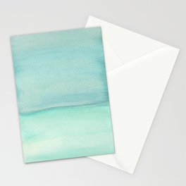 Turquoise and Teal Color block Stationery Cards
