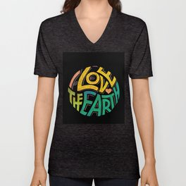 Earthen Words to Live by Unisex V-Neck
