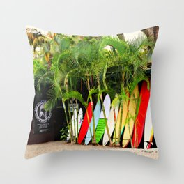 North Shore Surf '14 Throw Pillow