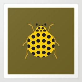 Lady(bug) in Yellow Art Print