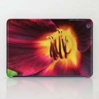 burgundy iPad Cases featuring Burgundy Satin by hewnly