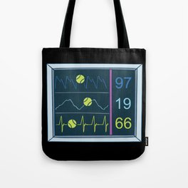 Tennis Heartbeat Injury Hospital Heart Rate Outfit Clothes EKG Pulse Line Gift Tote Bag