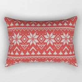 4 Knitted Christmas pattern in retro style pattern Rectangular Pillow