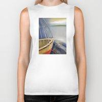 skyline Biker Tanks featuring Skyline by Vilnis Klints