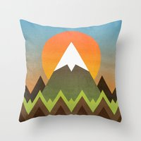 camp Throw Pillows featuring Camp by Elisabeth Fredriksson