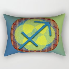 SAGITTARIUS Flower of Life Astrology Design Rectangular Pillow