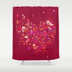 Heart2 Red Shower Curtain