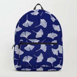 Ginkgo Biloba   Blue Background Backpack