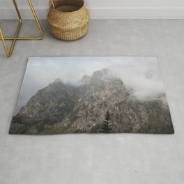 Mountains in a Cloud Rug