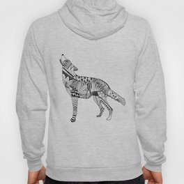 Zentangle Wolf Hoody