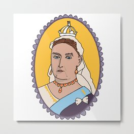 Queen Victoria Metal Print