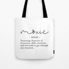 Moxie Definition - Minimalist Black Tote Bag