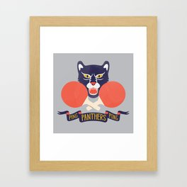 Ping Pong Panthers Framed Art Print