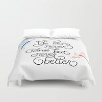 wonderland Duvet Covers featuring Wonderland by jozi.art