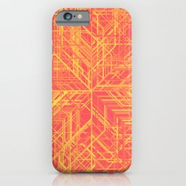 Random Lines Converging in the Center (Yellow/Orange/Red) iPhone Case