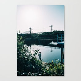 the little fisher Canvas Print