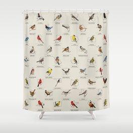 50 State Birds Shower Curtain