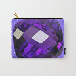 LILAC PURPLE AMETHYST FACETED GEM BIRTHSTONE ART Carry-All Pouch