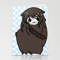 kili Stationery Cards featuring Dwarpacas(Kili) by Lady Cibia