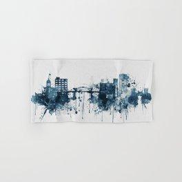 Blue Chattanooga skyline design Hand & Bath Towel