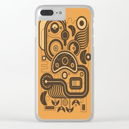Nonsensical Doodle #3 Clear iPhone Case