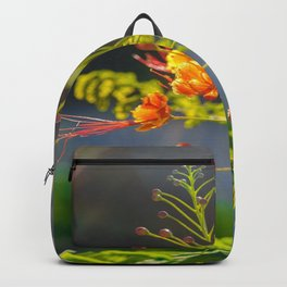 Shy yellow flower Backpack