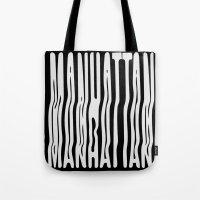 manhattan Tote Bags featuring Manhattan by Hoods