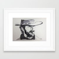 clint eastwood Framed Art Prints featuring Clint Eastwood by sohsacaro