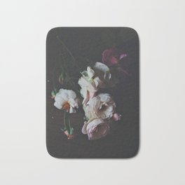 English Roses Still Life - Dark Number Two Bath Mat
