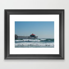 Huntington Beach Life Framed Art Print