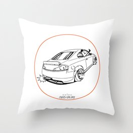 Crazy Car Art 0221 Throw Pillow
