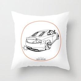 Crazy Car Art 0221 Throw Pillow