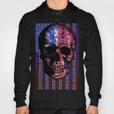 US Skull in a digital circuit. Hoody