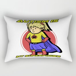 Autism Is My Superpower Awareness Day Support Gift Rectangular Pillow