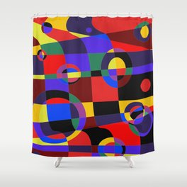 Abstract #96 Shower Curtain