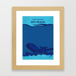 No912 My Into the Blue minimal movie poster Framed Art Print