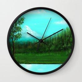 Mountain 2 Wall Clock