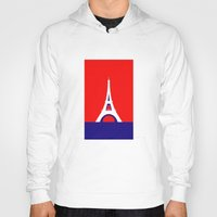 france Hoodies featuring FRANCE by Marcus Wild