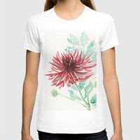 dahlia T-shirts featuring Bursting With Excitement  by Kate Havekost Fine Art