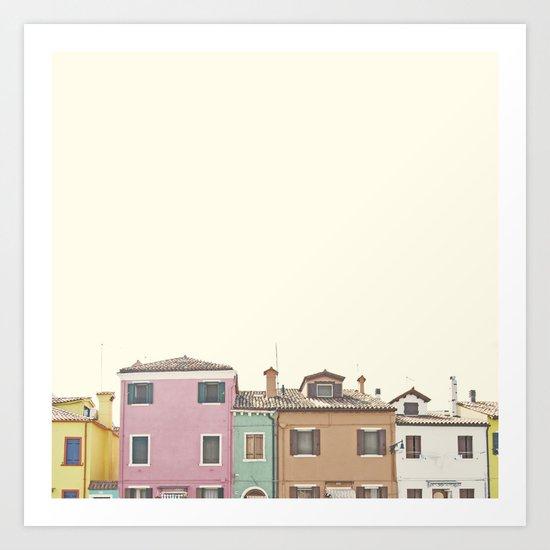 Colored Houses Art Print