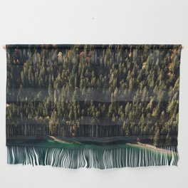 Calm Autumn Forest at a Lake Wall Hanging