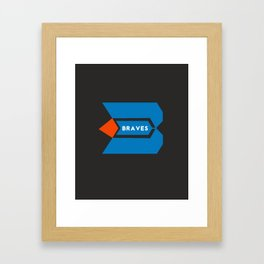 BRAVES 2020 Framed Art Print
