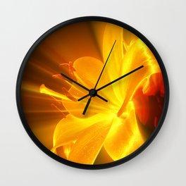Gelbe Lilie Wall Clock