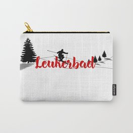 Ski at Leukerbad Carry-All Pouch