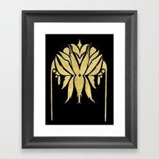 Golden Symmetry 1 Framed Art Print
