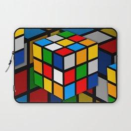 Multicolored Rubik Cube Laptop Sleeve